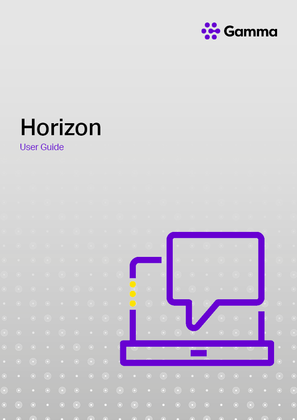Horizon User Guide
