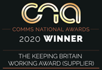Comms National Awards 2020 Winner - The Keeping Britain Working Award (Supplier)
